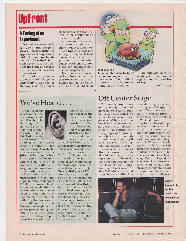 Baltimore Mag. Article