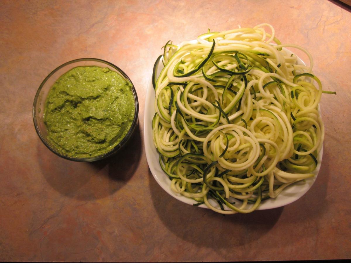 Homemade pesto and Zucchini