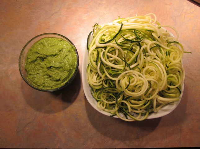 Homemade pesto and Zucchini