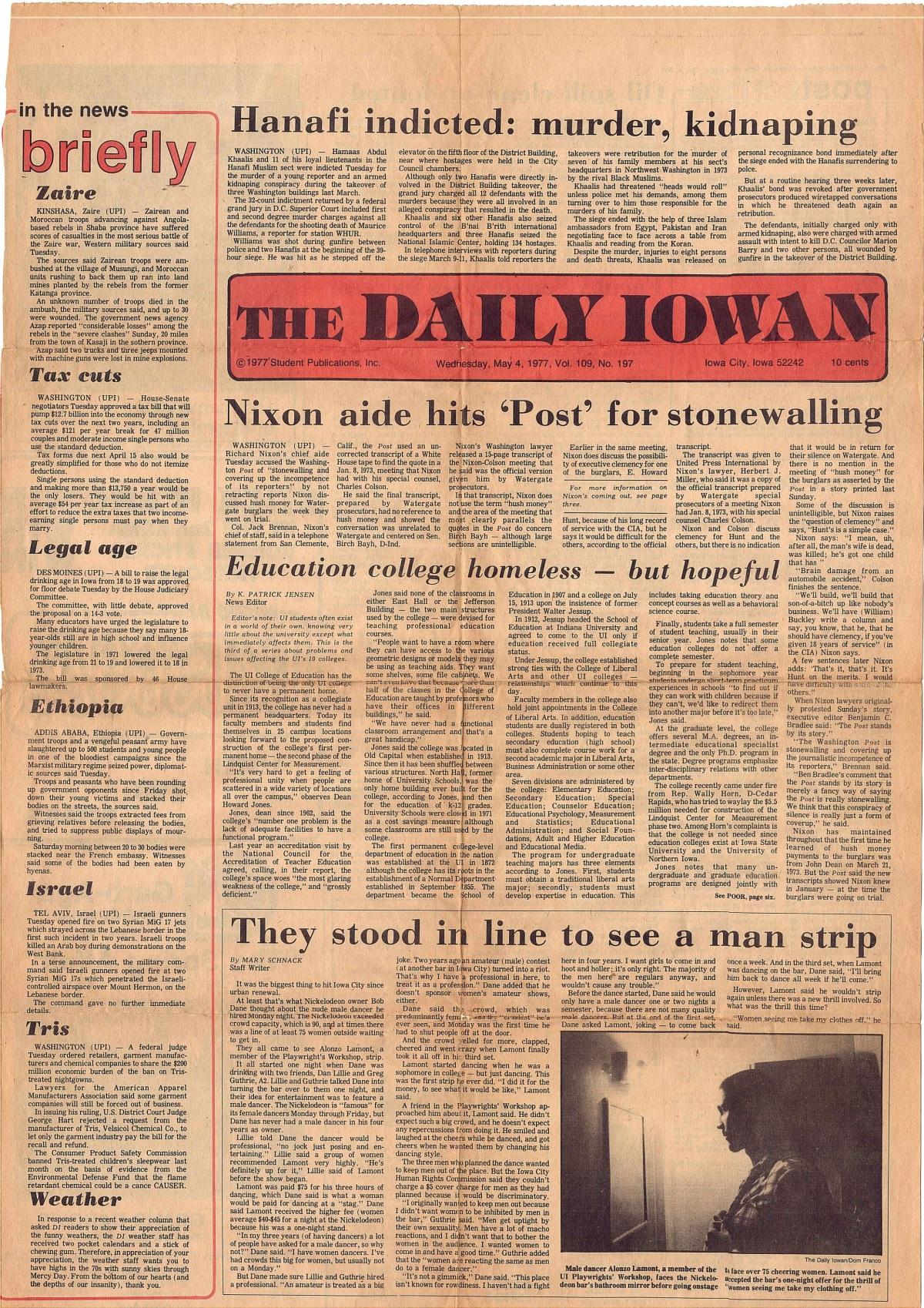 AL in the Daily Iowan color copy